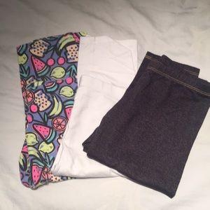 Other - **Bundle** Girls Capri Leggings